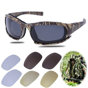 Polarized Camo Sunglasses With 4 Lens - Save and Shop Collections