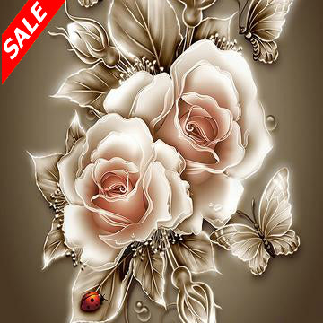 DIY Diamond Painting Blossom Roses & Butterfly - Save and Shop Collections