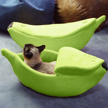 Load image into Gallery viewer, Banana Peel Cat Bed