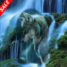 Load image into Gallery viewer, 5D DIY Diamond Painting Waterfall Scenic Wolf - Save and Shop Collections
