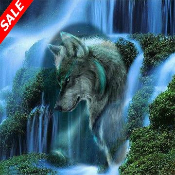 5D DIY Diamond Painting Waterfall Scenic Wolf - Save and Shop Collections