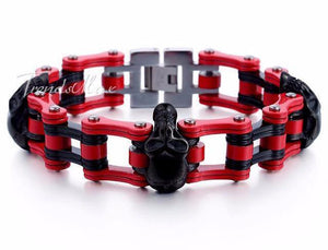 Biker Men's Skulls Bracelet - Save and Shop Collections