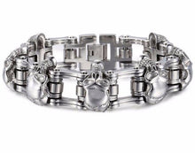 Load image into Gallery viewer, Biker Men's Skulls Bracelet - Save and Shop Collections