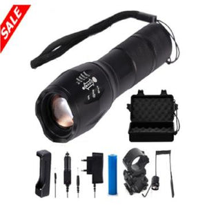 10000 Lumens Zoomable Tactical LED Flashlight