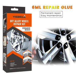 DIY Alloy Wheel Repair Adhesive Kit 5 Minutes General Purpose Silver Paint Fix Tool for Car Auto Rim Dent Scratch Care Accessory