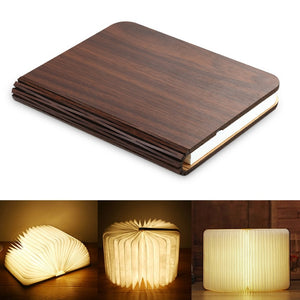 Wood Book Lamp
