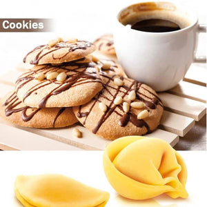Biscuit Rolling Crimped Cutter 3pcs/Set Baking Tool Pie Mold Pastry Blade Roller Angel Ravioli Dough Cookie Roller Cutter