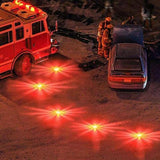 2pcs LED Emergency Magnet Flashing Warning Night Lights Safety Road Flare Emergency Lights with Magnetic Base for Car Truck Boat