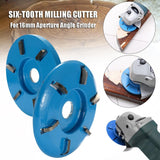 Polishing 3/6 Teeth Power Wood Carving Disc Tool Milling Cutter 90mm Diameter 16mm Bore Angle Grinder Angle Grinder Attachment