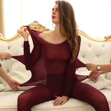 Load image into Gallery viewer, Women Winter Seamless Thermal Inner Wear Set Warm Tops+Pants 2Pcs Suit KS-shipping