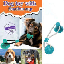 Load image into Gallery viewer, Pet Toys with Suction Cup Dog Push Toy with TPR Ball Pet Tooth Cleaning Chewing Rubber Dog Toys for Small Dogs Rubber Dog Toy