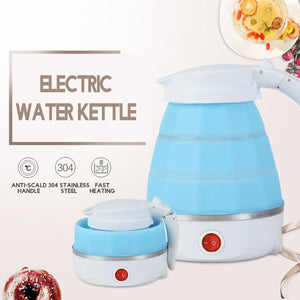 0.6L Electric Kettle Safety Silicone Foldable Portable Travel Camping Water Boiler 220V 700W Auto Power-Off Protection Kettle