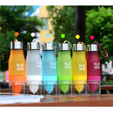 Load image into Gallery viewer, 650ml H2O Lemon Juice Water Bottle Fruit Infuser Drinkware For Outdoor Sports My Shaker Bottle BPA Free