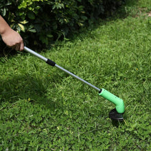 Load image into Gallery viewer, Portable Grass Trimmer Cordless Lawn Weed Cutter Edger with Zip Ties Gardening Mowing Power Tools Kits Grass Trimmer
