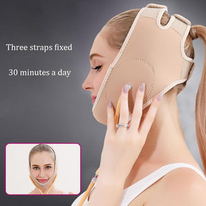 Air Press Lift Up Belt Face-Lift Mask Massager V-Line Cheek Chin Slimming Belt Face Shaper For Weight Loss Skin Care Beauty Tool