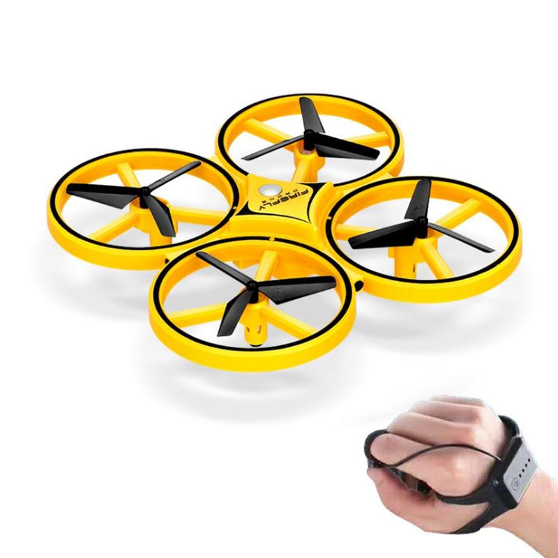 Interactive Induction Drone Toys Quadcopter LED Light RTF UAV Aircraft Intelligent Watch Remote Control UFO Drone Children Gift