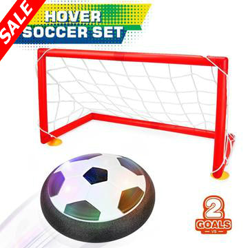 Hovering Soccer Ball With Goal Set