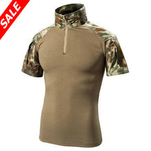 Load image into Gallery viewer, Tactical Short Sleeve Slim Fit Shirt with Zipper - Save and Shop Collections