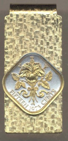Bahamas 15 cent - Hibiscus (Money Clips)
