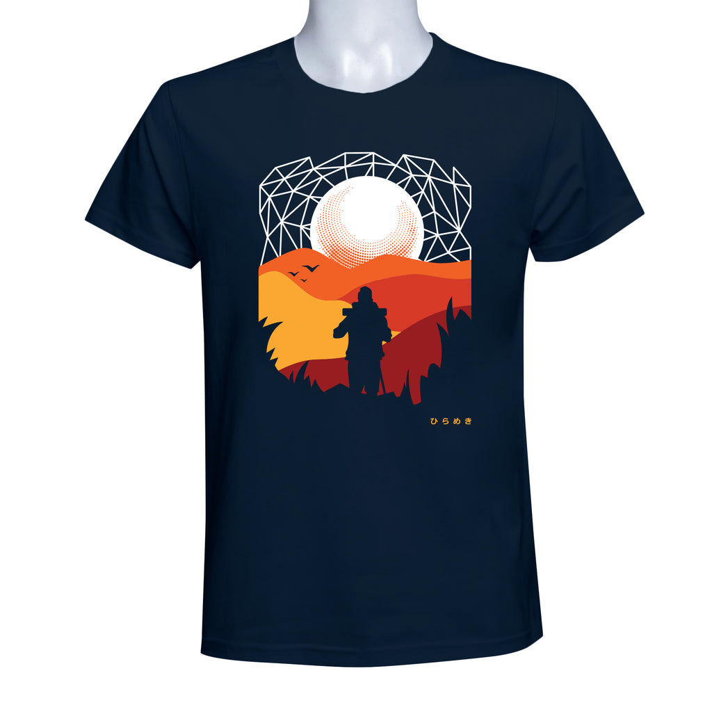 INSPI Tees Trekking Graphic Tshirt in Navy Blue