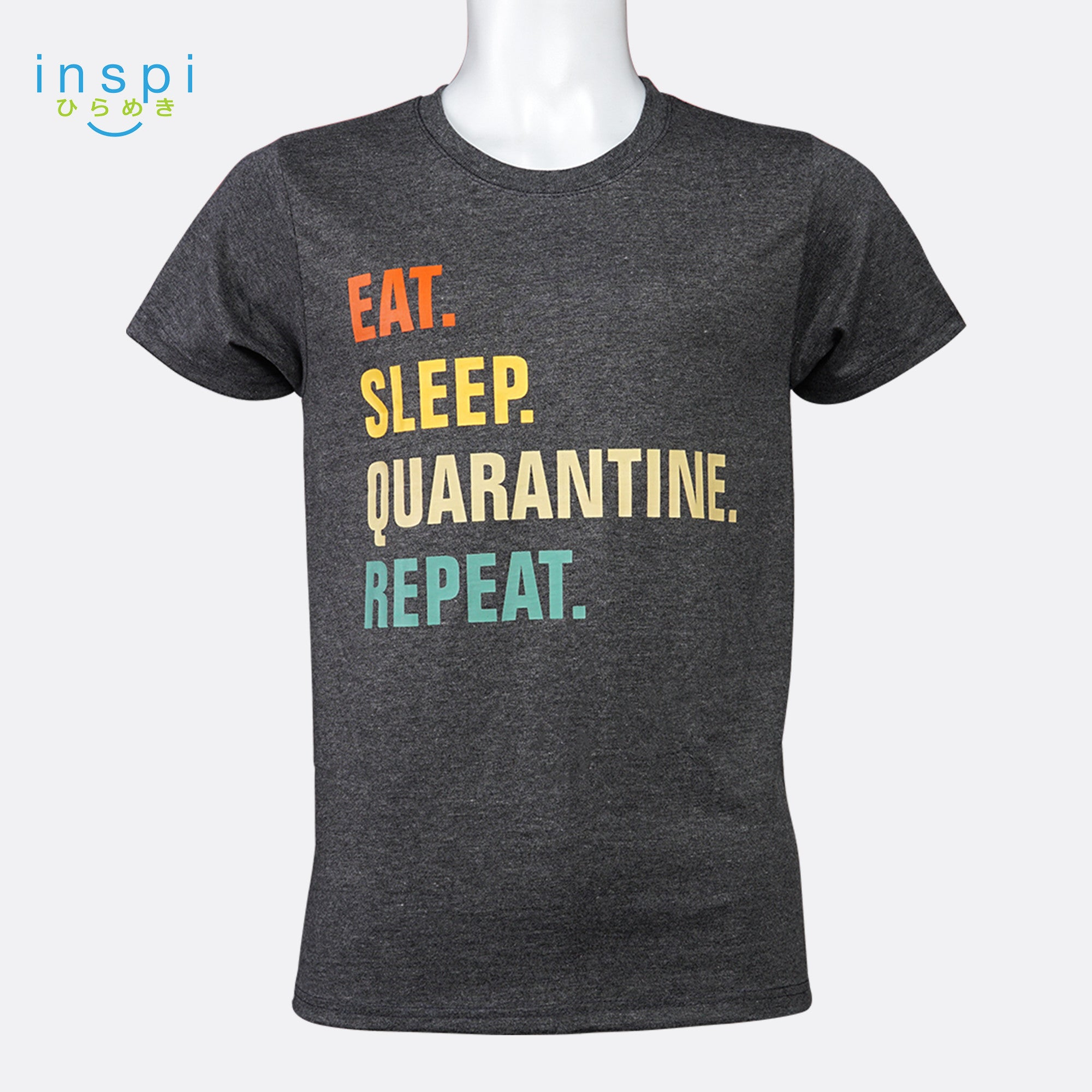 INSPI shirt Eat Sleep Quarantine Tshirt in Black