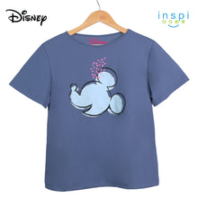 Load image into Gallery viewer, Disney Mickey Mouse Icon Ladies Comfies Coords tshirt pambahay shorts in Slate Blue loungewear