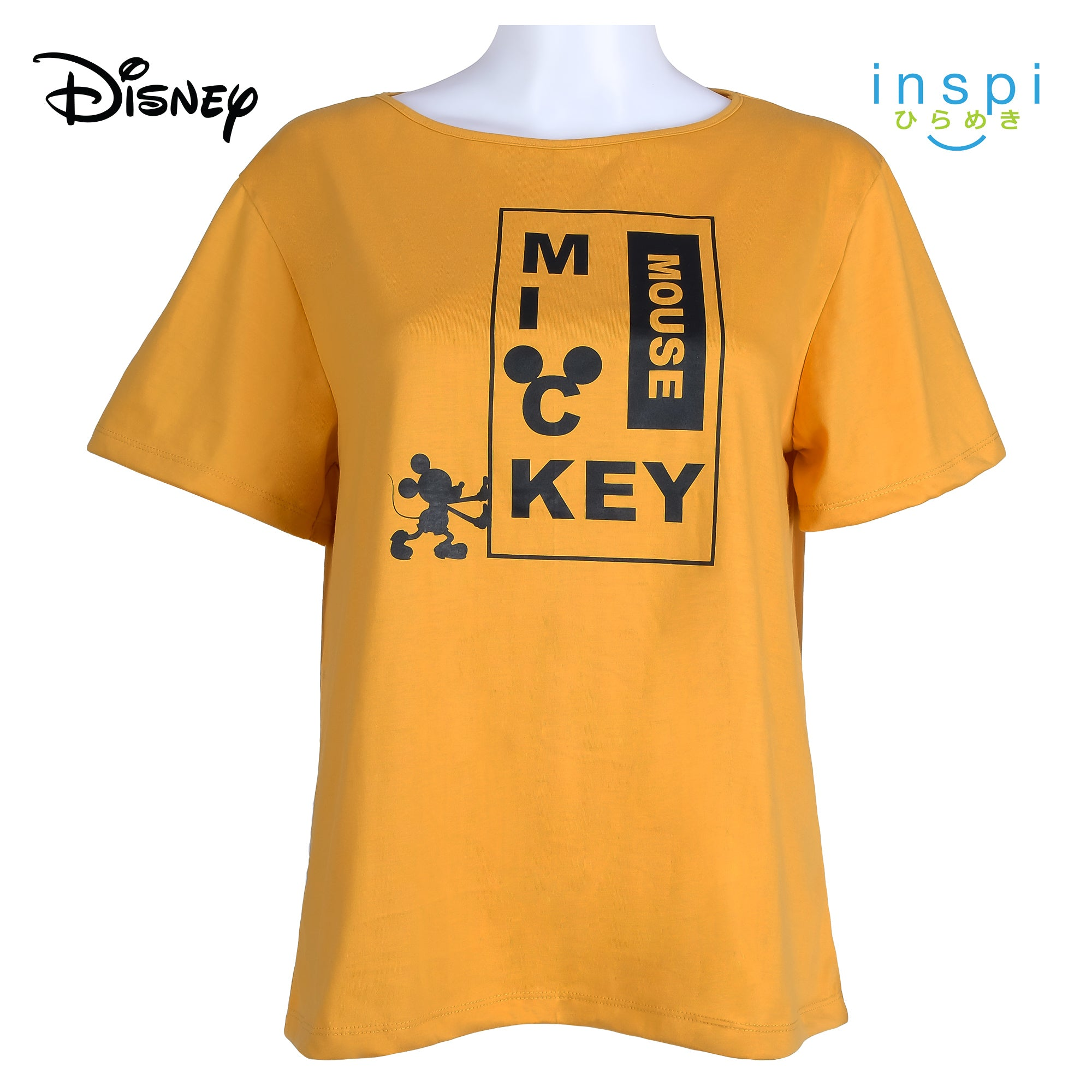 Disney Mickey Mouse Ladies Comfies Coords Shirt in Yellow Coords pambahay loungewear