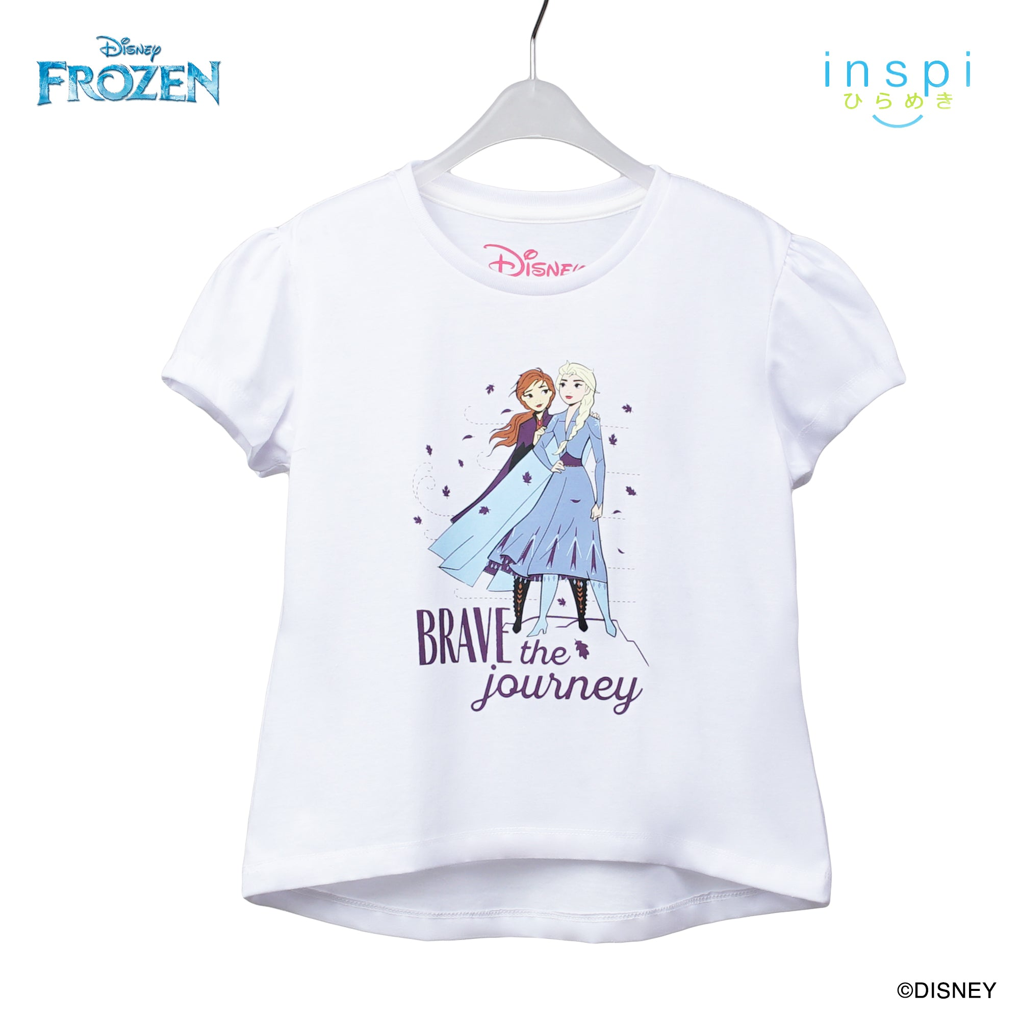 Disney Frozen Brave the Journey Tshirt in White for Girls Inspi Shirt