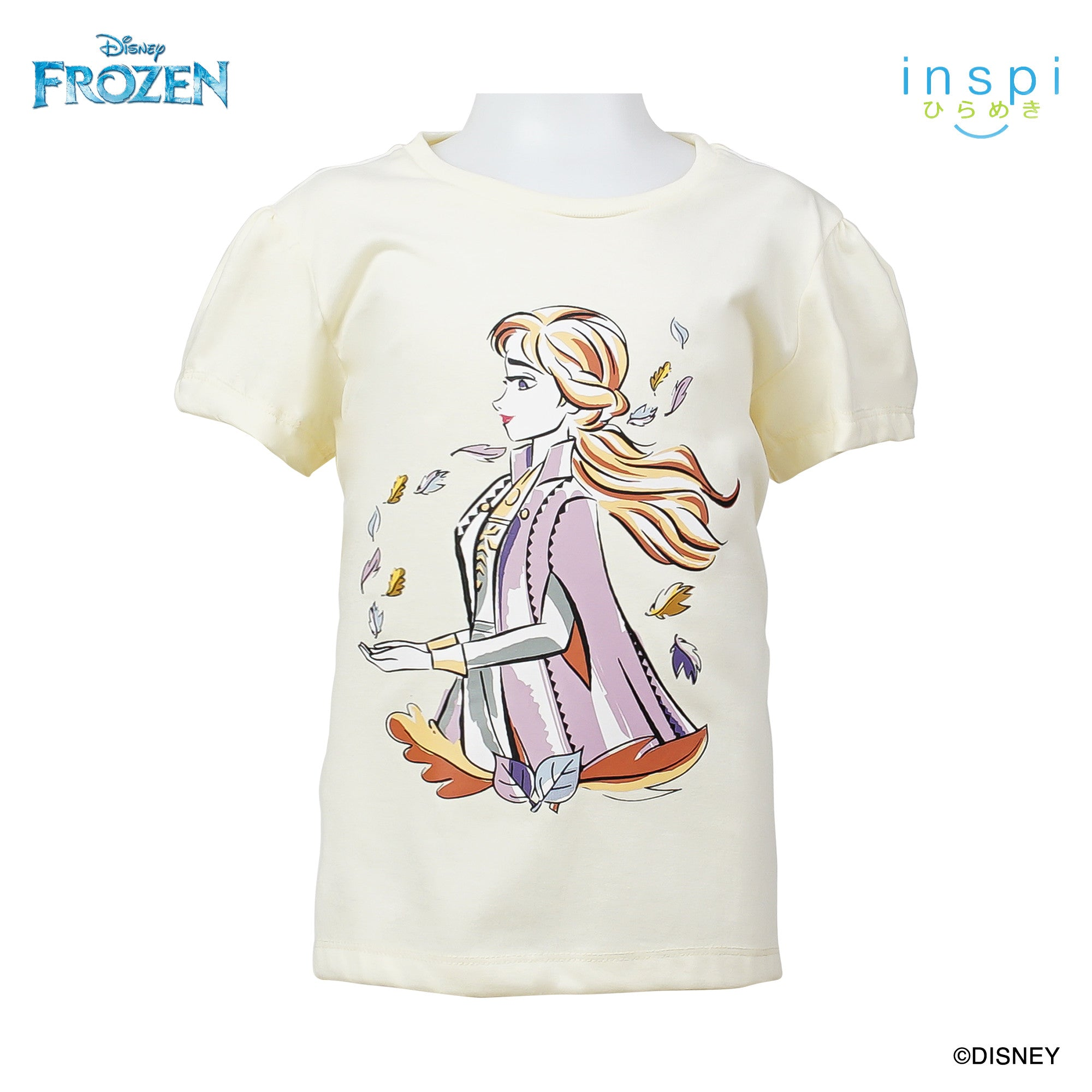 Disney Frozen Anna Tshirt in Creamy White for Girls Inspi Shirt