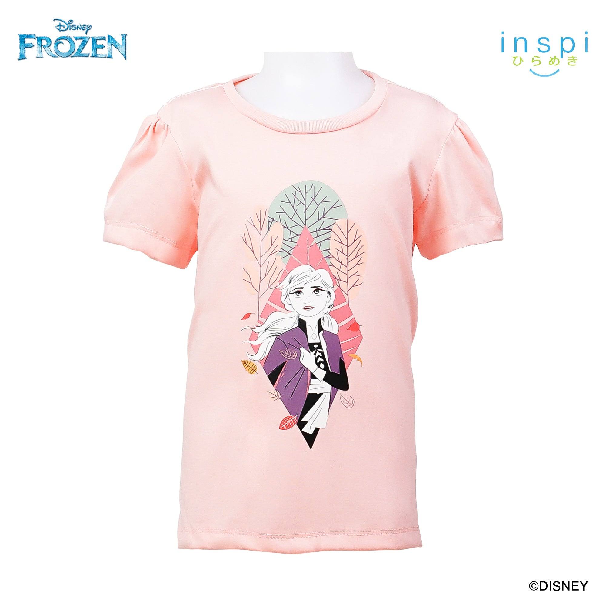 Disney Frozen Anna in Autumn Season in Dairy Peach Inspi Shirt for Girls