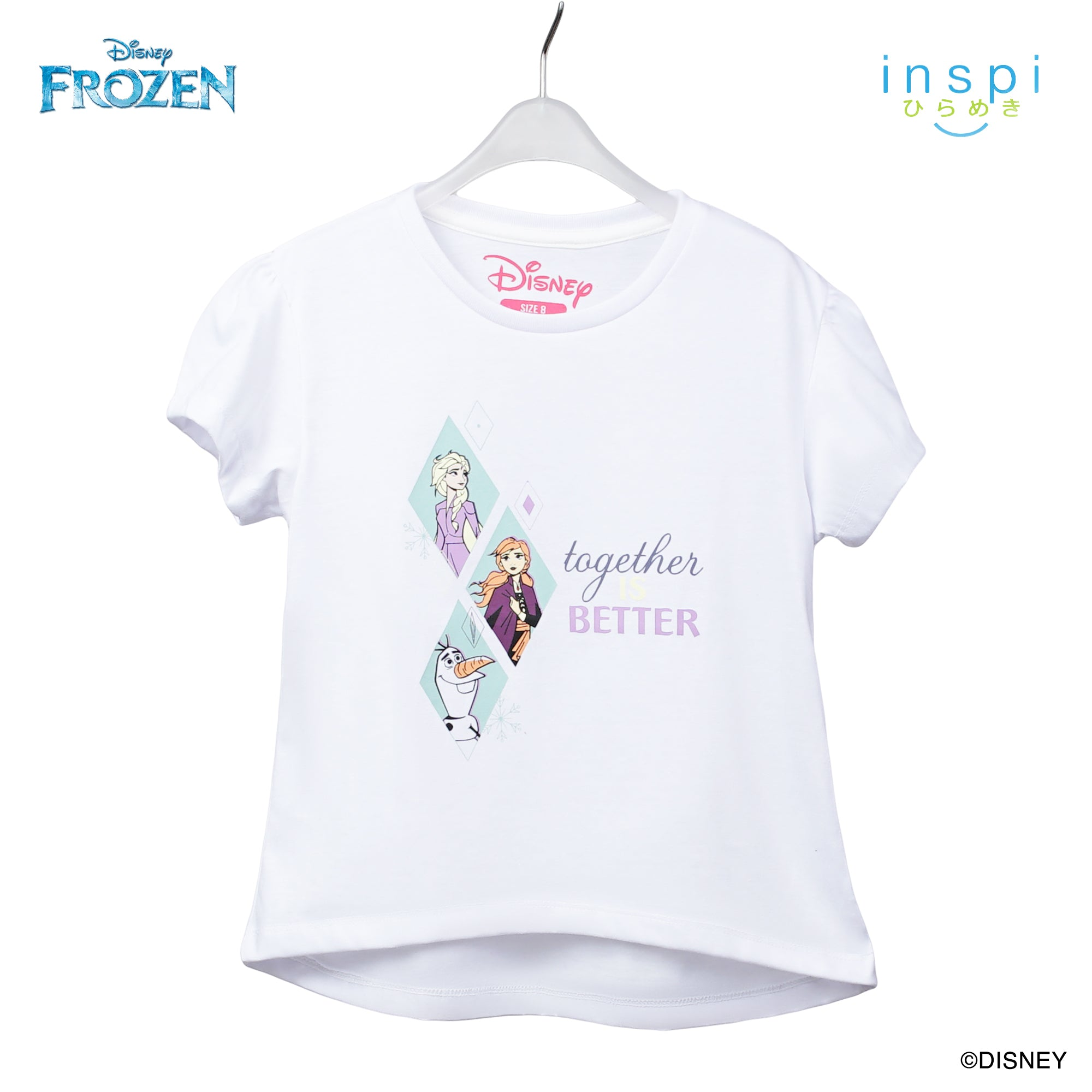 Disney Frozen Together is Better Tshirt in White for Girls Inspi Shirt