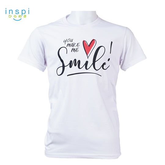 INSPI Tees Smile Graphic Tshirt in White