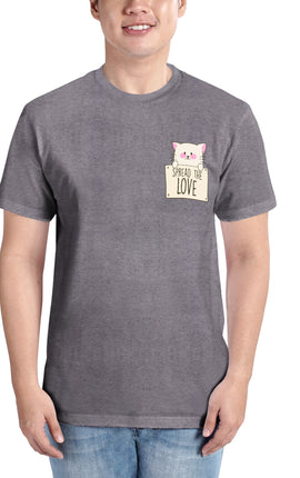 INSPI Tees Spread The Love Graphic Tshirt in Light Gray