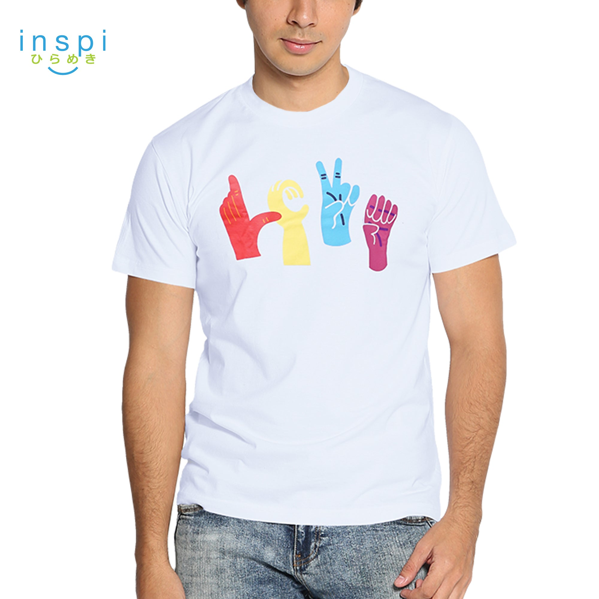 INSPI Tees Love Graphic Tshirt in White