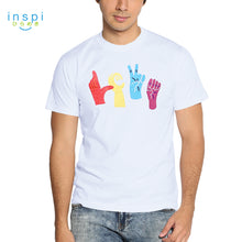 Load image into Gallery viewer, INSPI Tees Love Graphic Tshirt in White