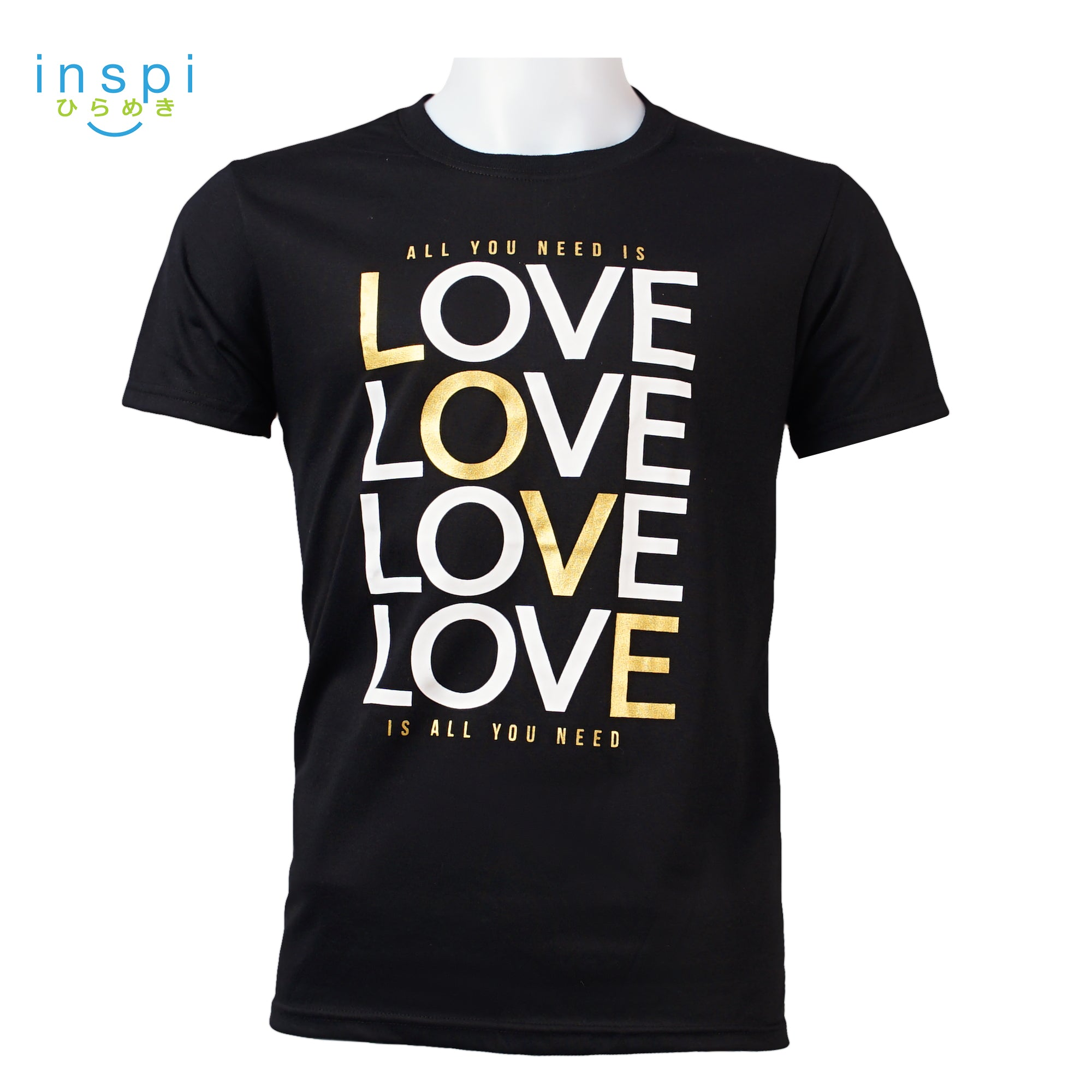 INSPI Tees All You Need is Love Graphic Tshirt in Black