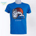 INSPI Tees Kitsune Mask Graphic Tshirt in Aqua Blue