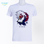 INSPI Tees Okami Wolf Graphic Tshirt in White