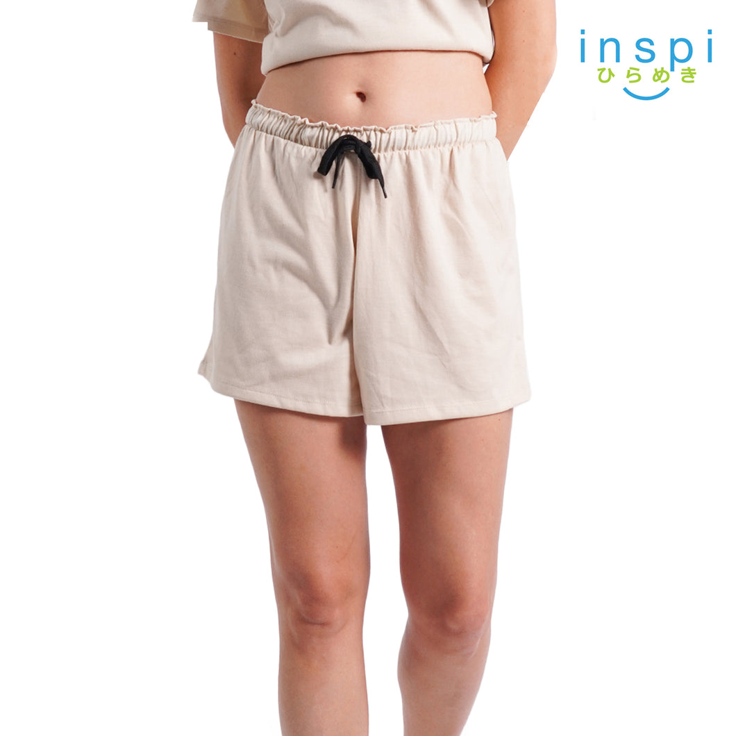 INSPI Ladies Comfies Casual Shorts in Khaki pambahay Coords Short for woman loungewear woman pajama