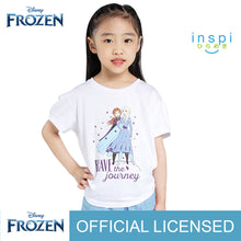 Load image into Gallery viewer, Disney Frozen Brave the Journey Tshirt in White for Girls Inspi Shirt