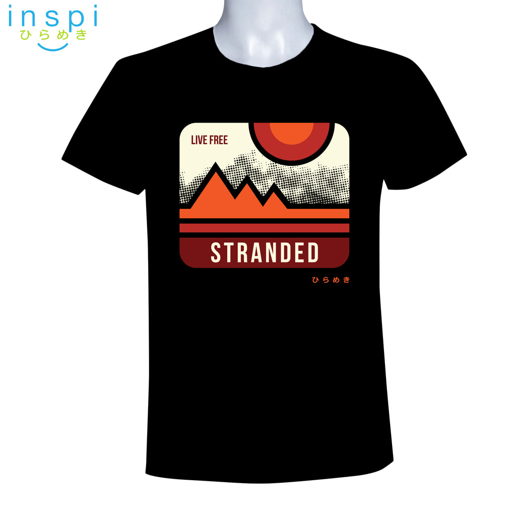 INSPI Tees Live Free Stranded Graphic Tshirt in Black
