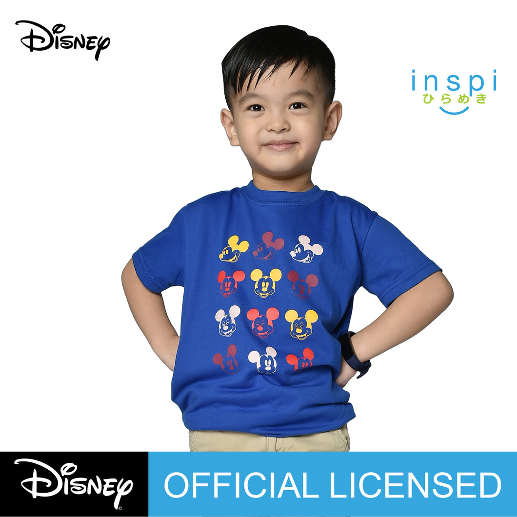 Disney Mickey Mouse Faces Tshirt in Royal Blue for Boys Inspi Shirt