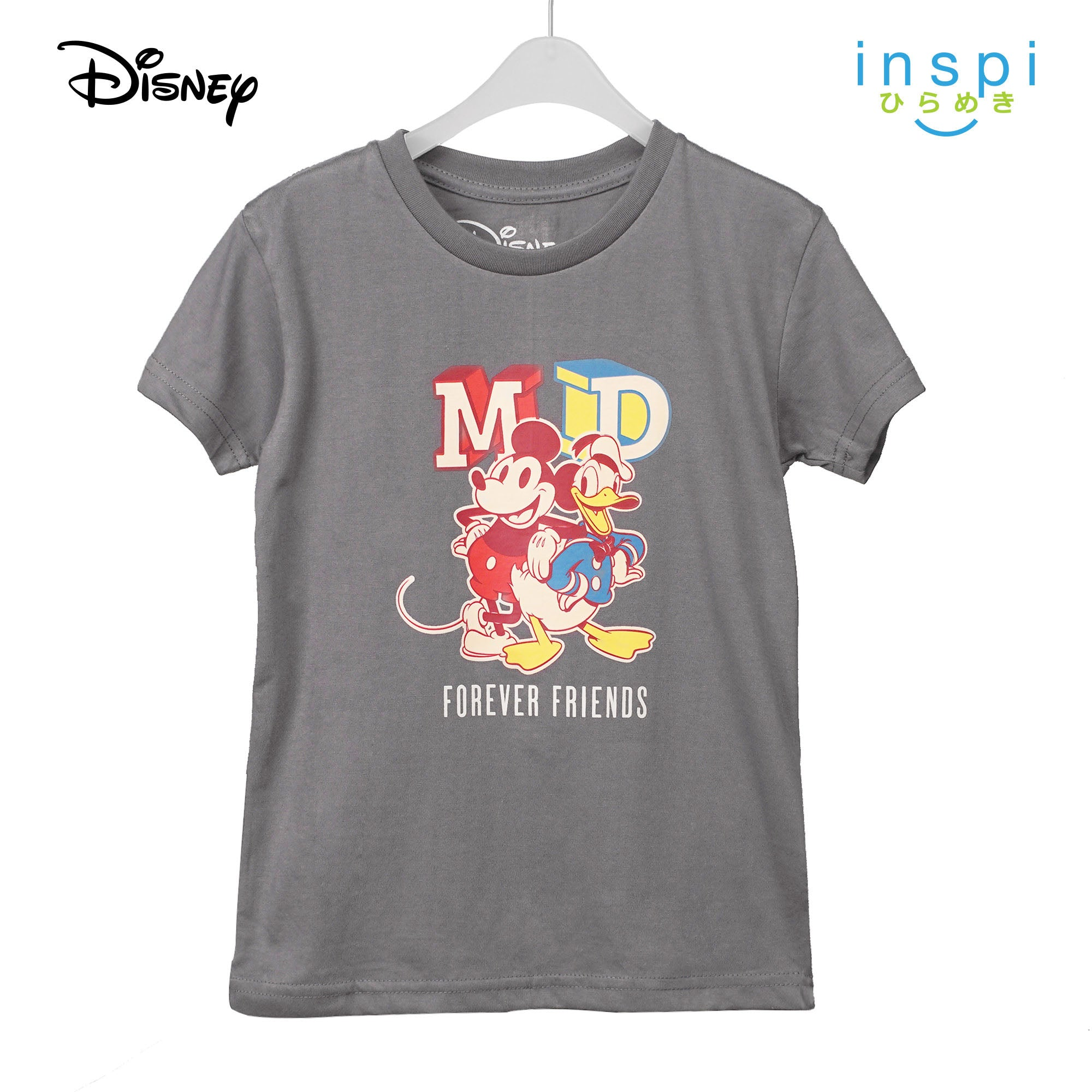 Disney Mickey Donald Forever Friends Tshirt in Sultry Gray for Boys Inspi Shirt