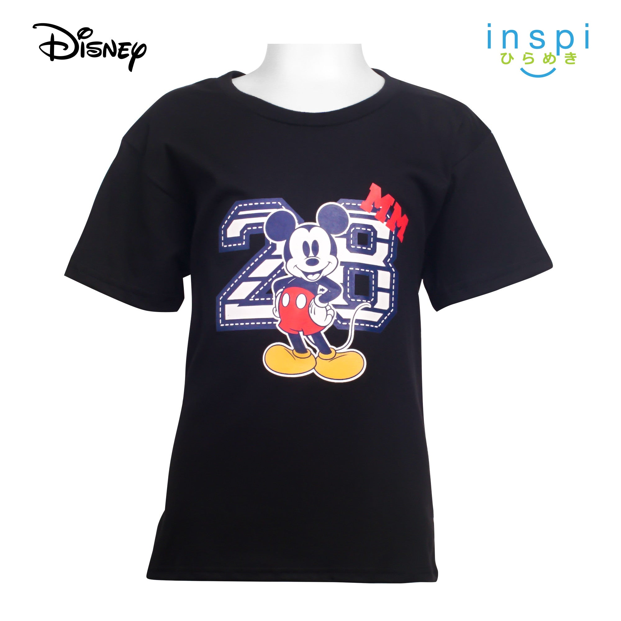 Disney Mickey Mouse Number Tshirt in Black for Boys Inspi Shirt