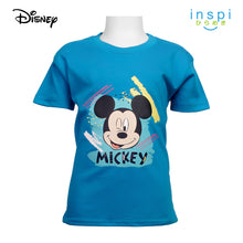 Load image into Gallery viewer, Disney Mickey Mouse Color Burst Tshirt in Aqua Blue for Boys Inspi Shirt