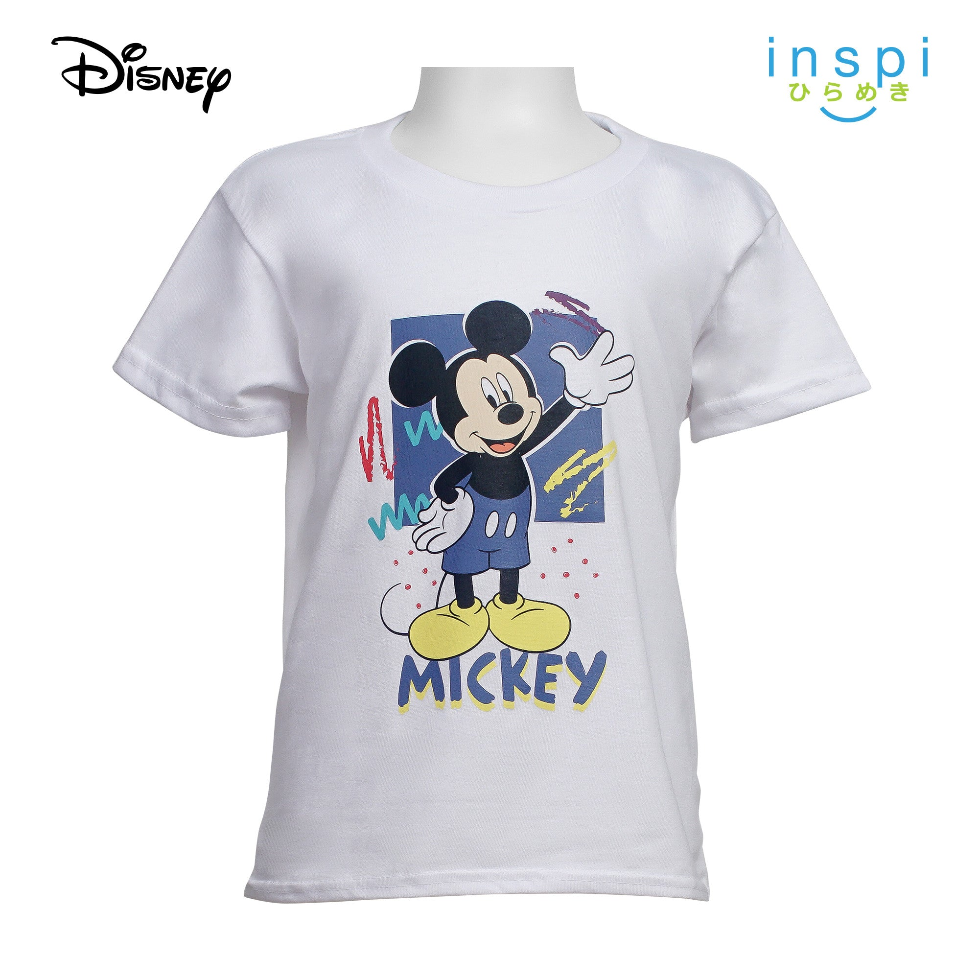 Disney Mickey Mouse High Five Tshirt in White for Boys Inspi Shirt