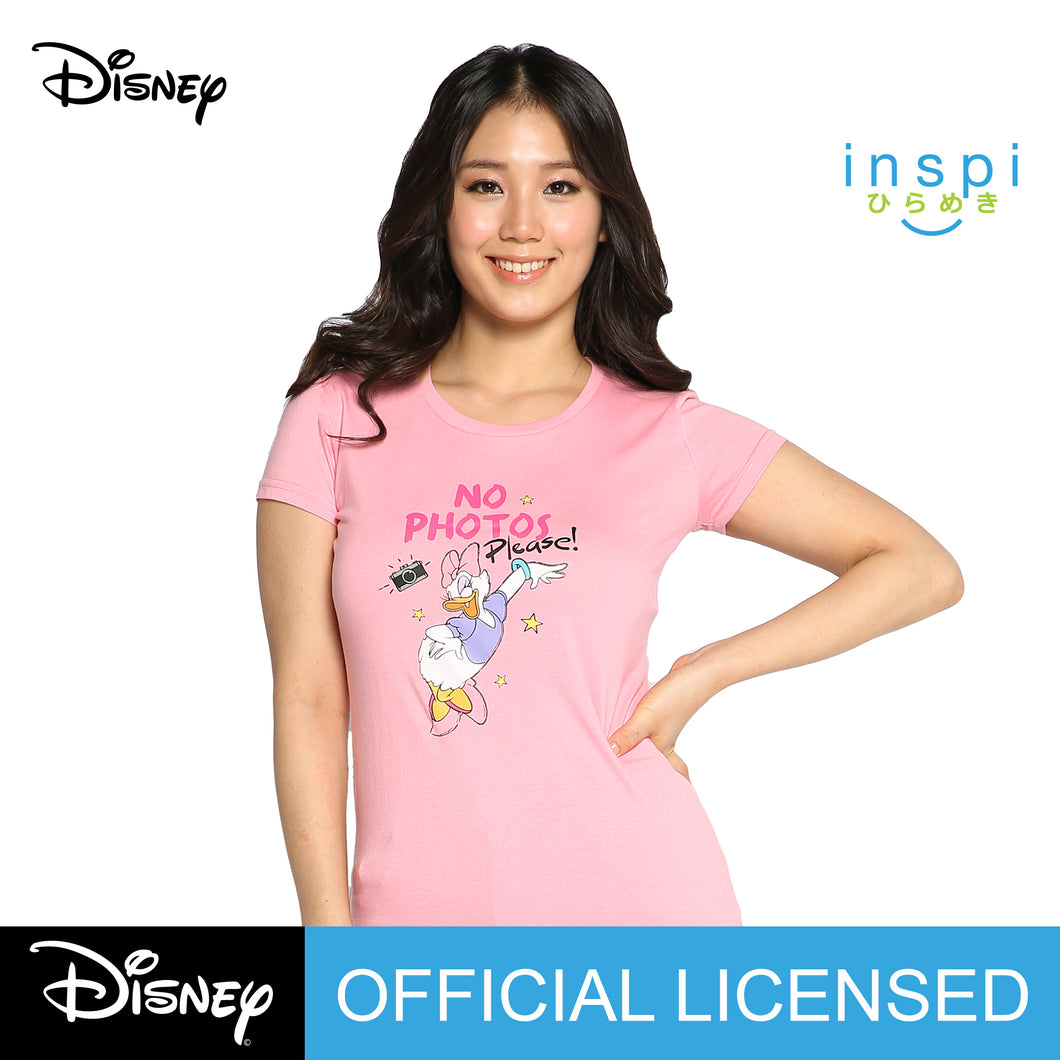 Disney Daisy Duck No Photos Graphic Tshirt in Pink For Women Inspi Shirt
