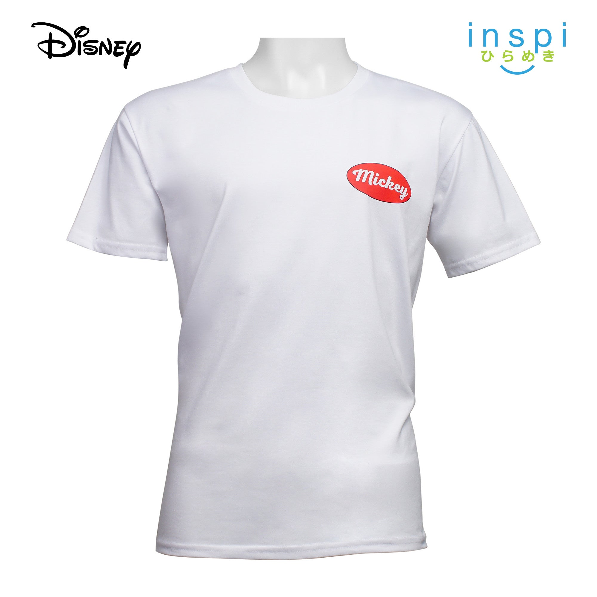Disney Mickey Mouse Back Graphic Tshirt in White for Men Inspi Shirt