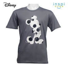 Load image into Gallery viewer, Disney Mickey Mouse Polkadot Silhouette Graphic Tshirt in Gray For Men Inspi Shirt