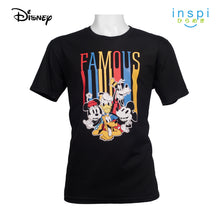 Load image into Gallery viewer, Disney Famous Mickey and Friends Graphic Tshirt in Black for Men Inspi Shirt